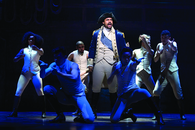 centre-Obioma-Ugoala-George-Washington-with-West-End-cast-of-Hamilton-Photo-credit-Matthew-Murphy