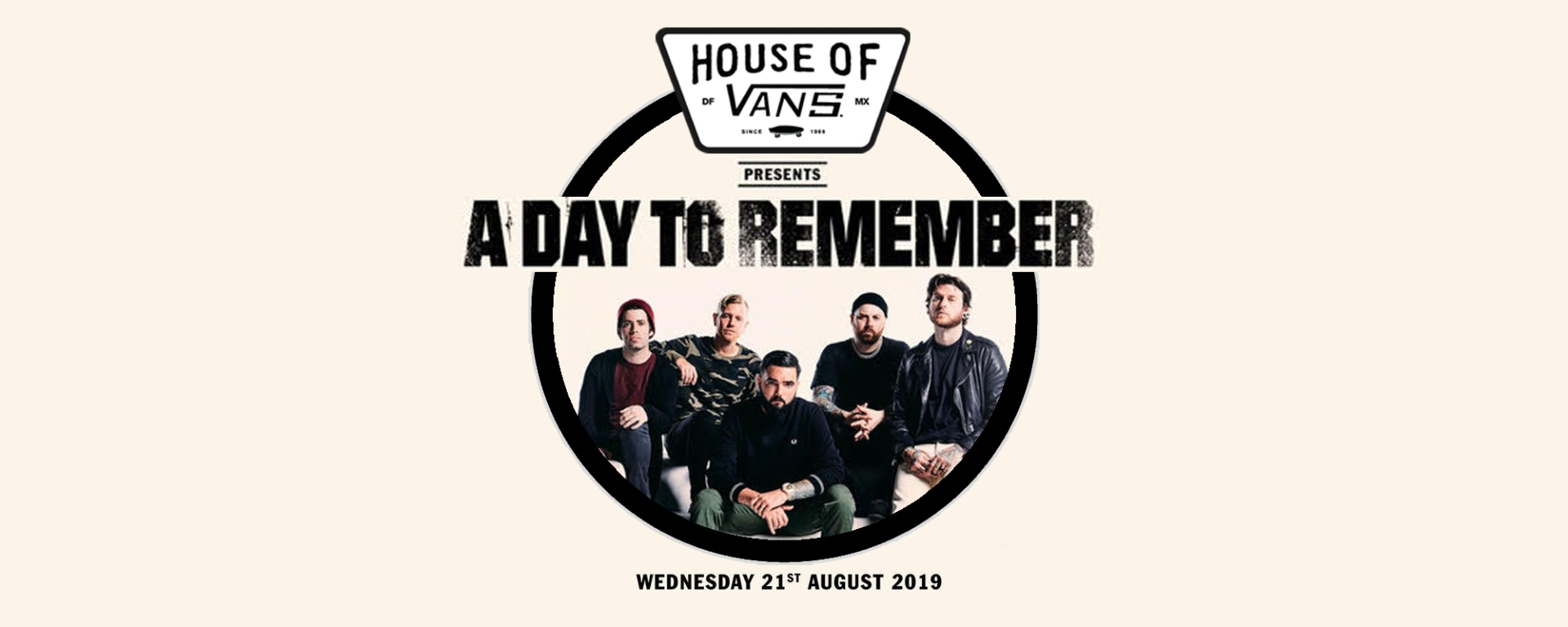 A Day To Remember ADTR at House of Vans London 21 August 2019