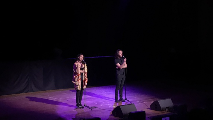 Project Voice Presents Sarah Kay + Phil Kaye July 2019 at EartH Hackney on stage