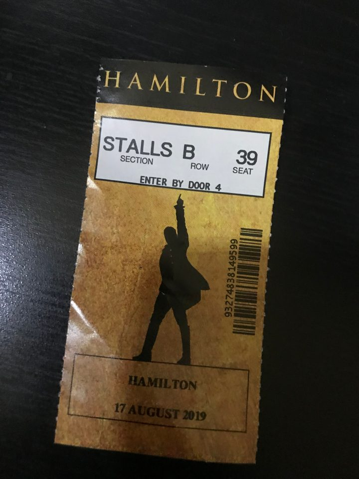 Hamilton West End Lottery Ticket