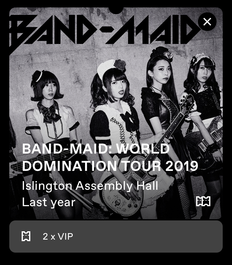 BAND-MAIN: World Domination Tour 2019 at Islington Assembly Hall